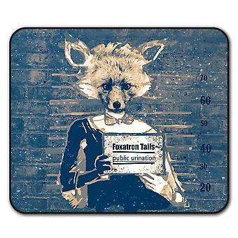 Fox Mug Shot bestia ratón antideslizante alfombra Pad 24 cm x 20 cm | Wellcoda