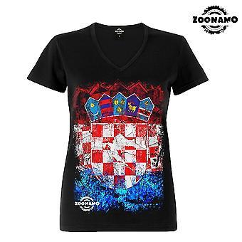 Zoonamo T-Shirt ladies classic for Croatia