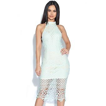 Crochet Neck Lace Dress