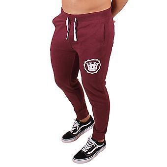 Men's Slim Fit Joggers Burgundy