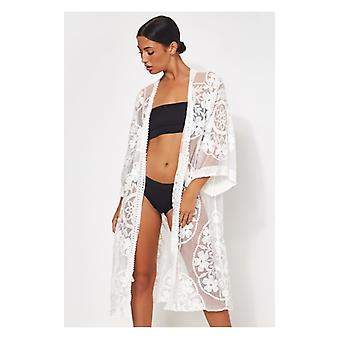 The Fashion Bible White Lace Kimono
