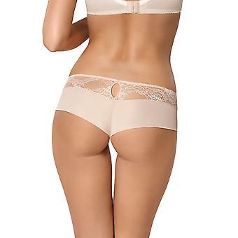 Gorsenia K424 Women's Nellie Beige Lace Knickers Panty Brazilian Brief
