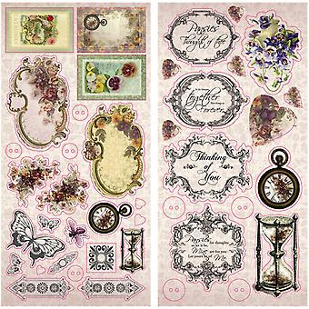 Hearts Ease Chipboard Stickers