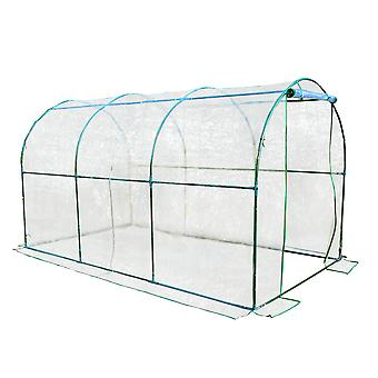 Outsunny Large Walk in Transparent PVC Greenhouse  Steel Frame 350x200x200cm