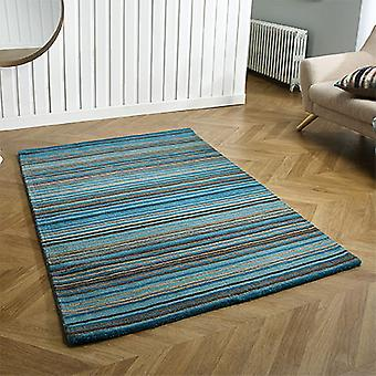 Carter Teal  Rectangle Rugs Plain/Nearly Plain Rugs