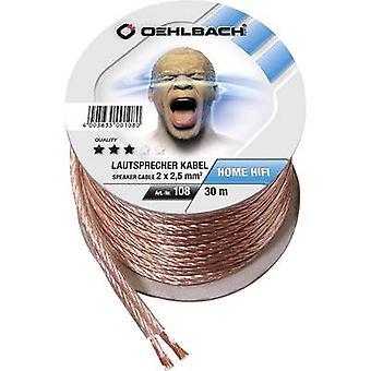 Cable de altavoz de 108 Oehlbach 2 x 2.50 mm² transparente 30 m