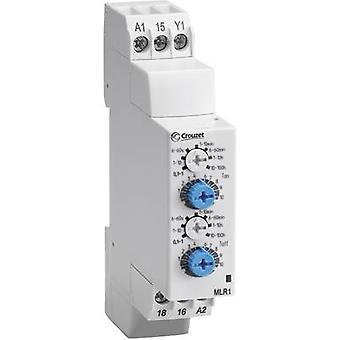 Crouzet MLR1 TDR Multifunktion 1 computer(e) ATT. FX. TIDSINTERVAL: 0,1 s - 100 h 1 skifte over