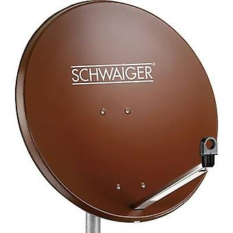 Schwaiger SPI996.2 SAT antenna 80 cm Reflective material: Steel Brick red