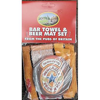Newcaste Brown Ale Cotton Bar Towel And 10 Beermats