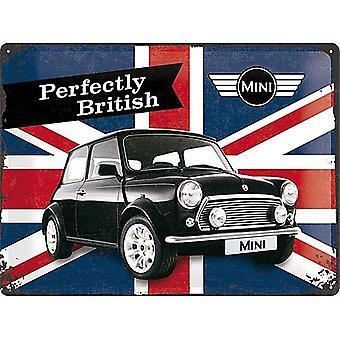 Mini perfekt britiske store præget stål underskrive 400 Mm X 300 Mm