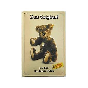 Steiff Teddy Bear Das Original reliëf stalen teken