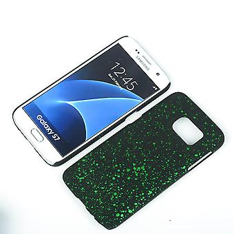 Cell phone cover case bumper shell for Samsung Galaxy S7 3D Star Green