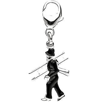 Одноместный серьги очарование трубочист 925 стерлингового серебра подвески для Шарм Браслет