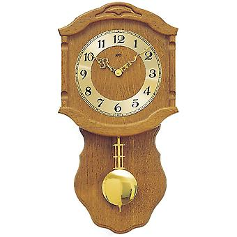 Wall clock wood wall clock quartz clock with pendulum wooden cabinet oak