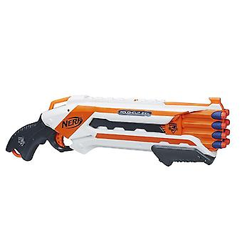 Nerf N-Strike Elite Double-barreled Rough Cut Blaster fires 2 darts at once