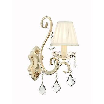 Maytoni Lighting Triumph Elegant Sconce, Cream Gold