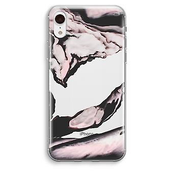 iPhone XR Transparant Case - Pink stream