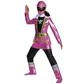 粉红色的护林员电力别动队超级 Megaforce 超级英雄女孩服装