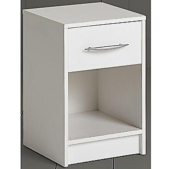 James - 1 Drawer Storage Chest / Bedside Table / Nightstand - White