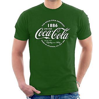 Coca Cola Retro Logo White Text Men's T-Shirt