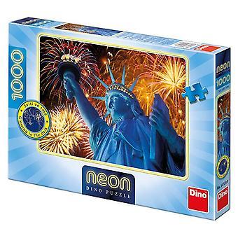 Dino neon puzzel Vrijheidsbeeld 1000
