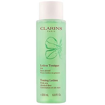 Clarins Toning Lotion With Iris Combination / Oily Skin 6.8oz / 200ml