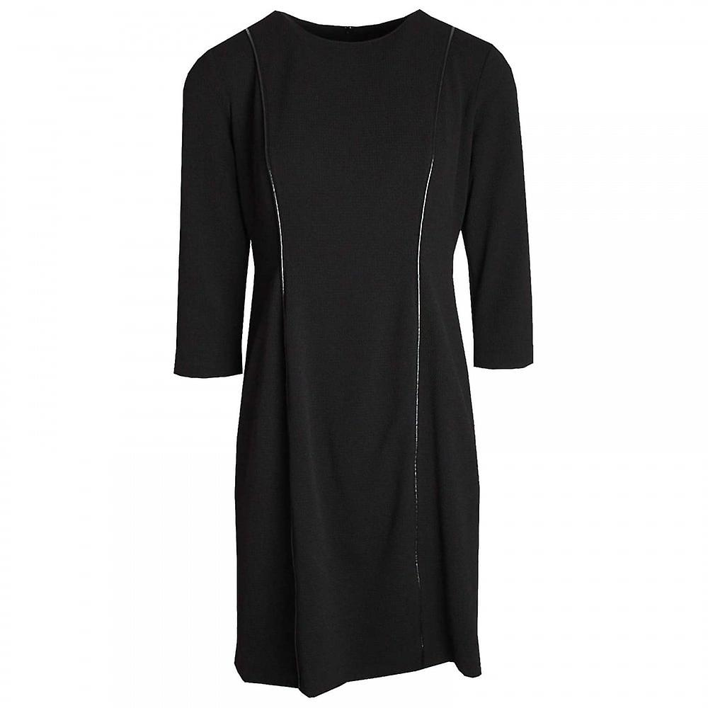 Hudson & Onslow Shadow Tweed Long Sleeve Dress