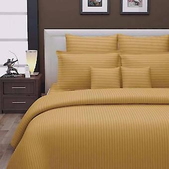 1000 Tc-100% Cotton Stripe Bed Sheet Set-gold