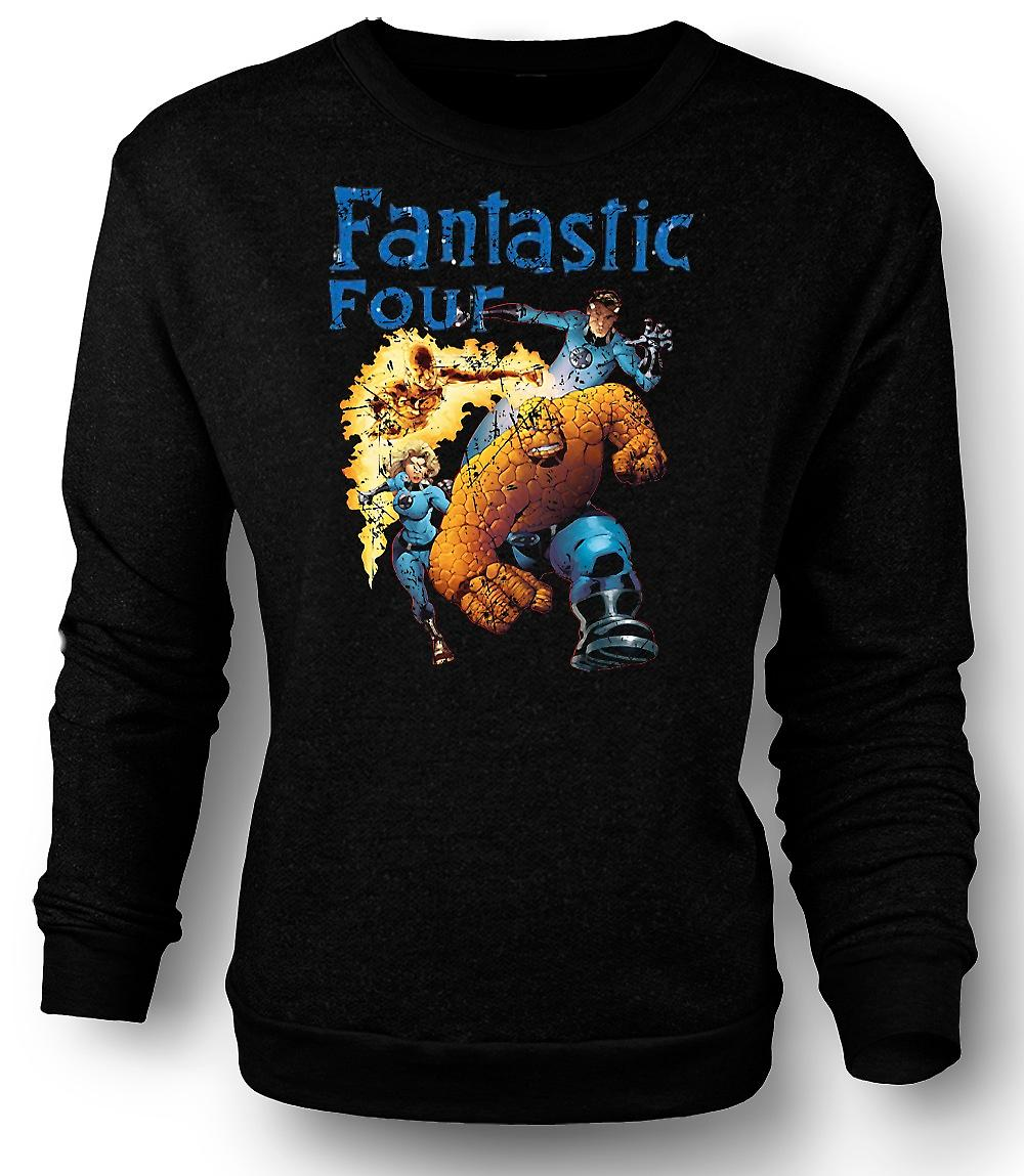 Mens Sweatshirt Fantastic Four - Super héros de bande dessinée