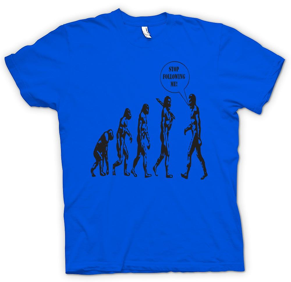 Mens T-shirt - Evolution - Stop Following Me