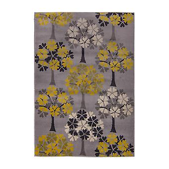Cocktail Blossom Tree Ochre  Rectangle Rugs Modern Rugs