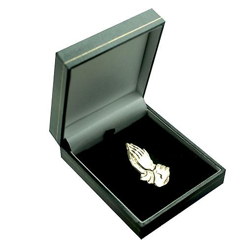 9ct Gold 39x22mm Praying hands