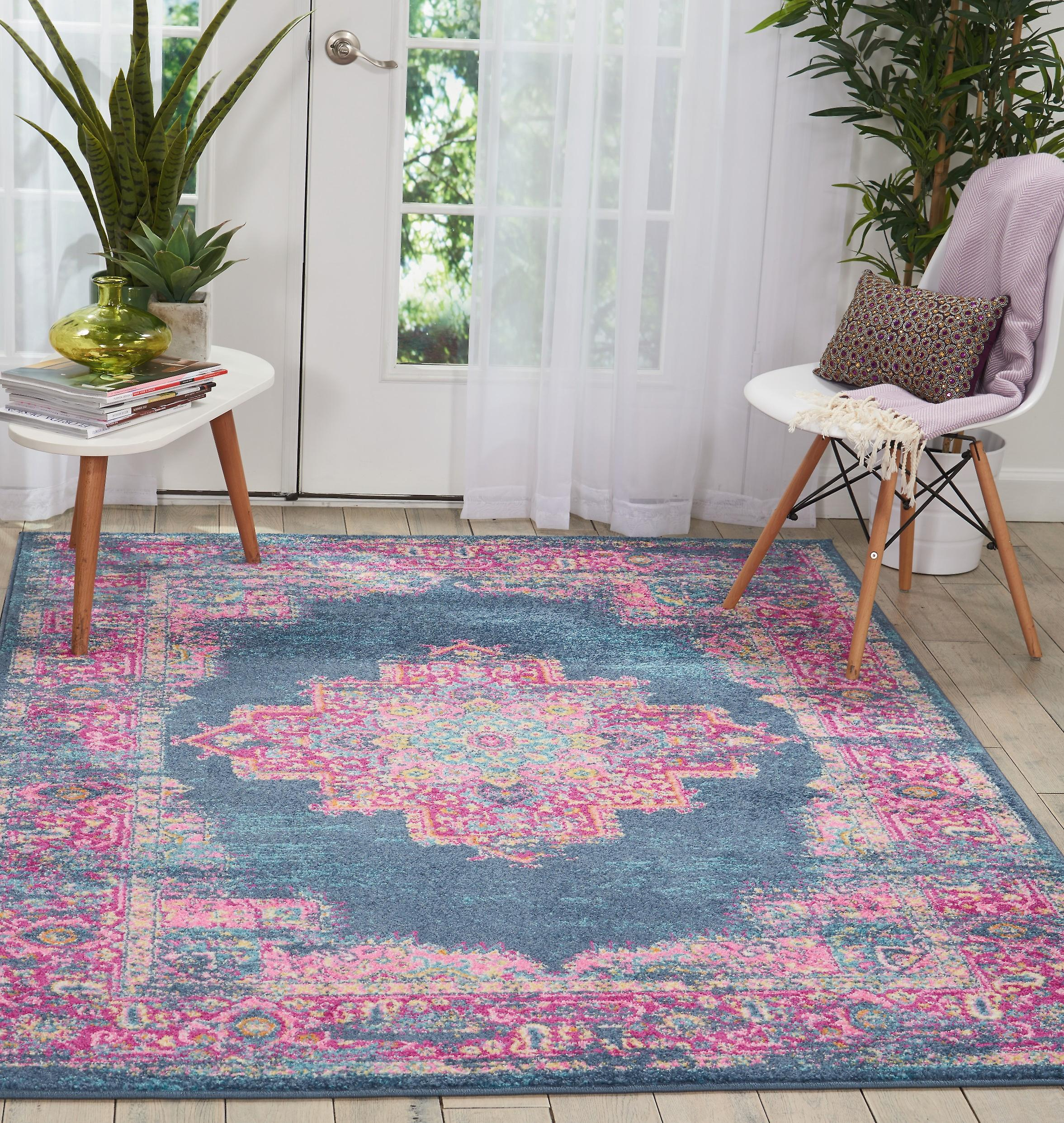 Passion Nourison PSN03 Rectangle bleu tapis tapis Funky