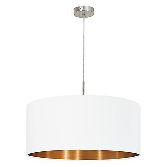 Eglo - Pasteri 1 luce lampadario Matt White EG95045