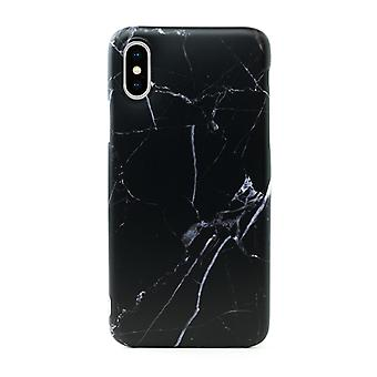 iPhone XR | Soft, Black Marble Case