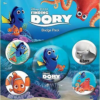 Finding dory button set multi colored, printed 2.5 cm 3.8 cm, sheet, 1 x Ø 4 x Ø.