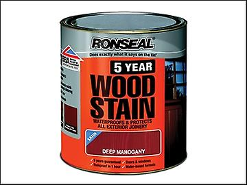 Ronseal 5 Year Woodstain Dark Mahogany 2.5 Litre