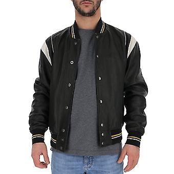 Givenchy Black Leather Outerwear Jacket
