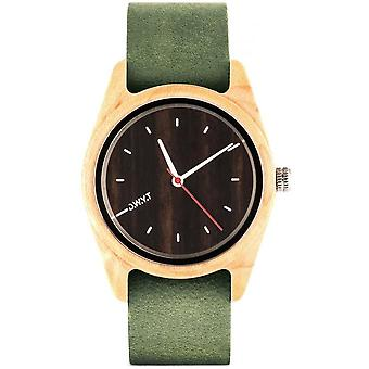 D.W.Y.T DW-00103-5016 - watch your wood leather green woman ga