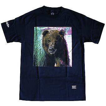 Grizzly Griptape Tie-Dye Fur T-Shirt Navy