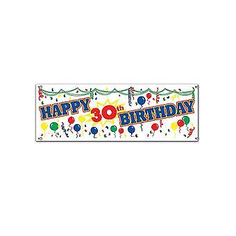 Joyeux 30e anniversaire signe bannière