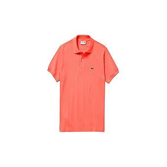 Lacoste Logo Pique Classic Fit Polo Shirt Orange