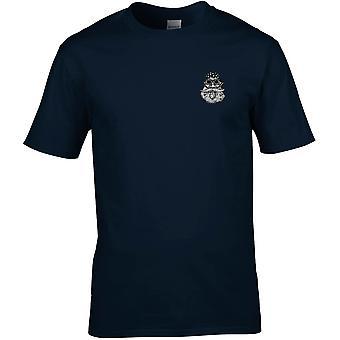 Old Biker Hog Embrodiered Logo - Cotton Premium T-Shirt
