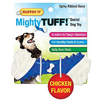 Mighty Tuff Spiky Ribbed Bone Dog Toy- 80656