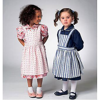 Toddlers' Dress And Pinafore  All Sizes In One Envelope Pattern K3962