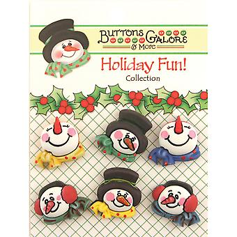 Holiday Buttons Snowman Medley Cm 105
