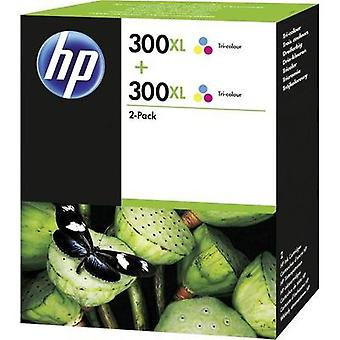 HP Ink 300XL 2-pack Tri-color Original Pack of 2 Cyan, Magenta, Yellow D8J44AE