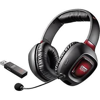 Gaming headset USB Cordless Creative Labs Tactic3D Rage Wireless V2.0 Over-the-ear Black