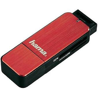 External memory card reader USB 3.0 Hama 123902 Red