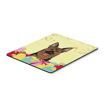 German Shepherd Easter Egg Hunt Mouse Pad, Hot Pad or Trivet BB1893MP